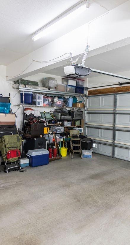 Garage storage of party rental start up company