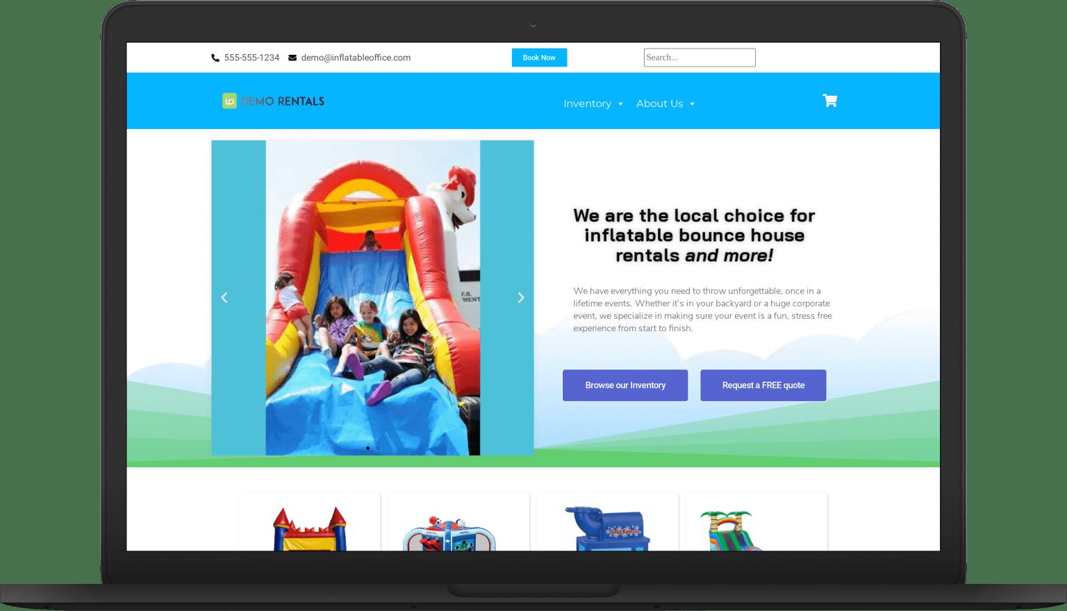 io bounce bounce laptop Website Themes