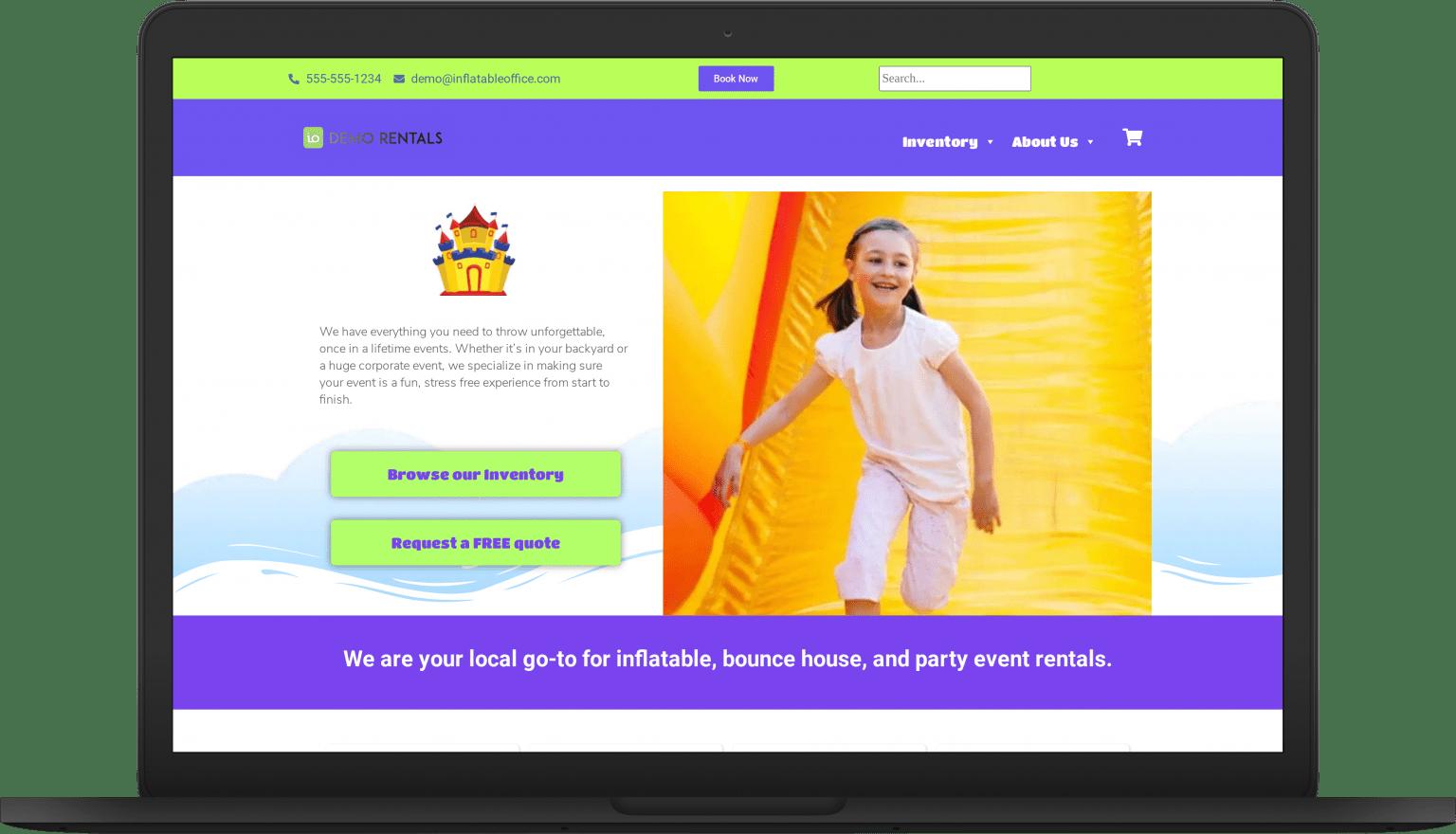 io bounceparty laptop Website Themes