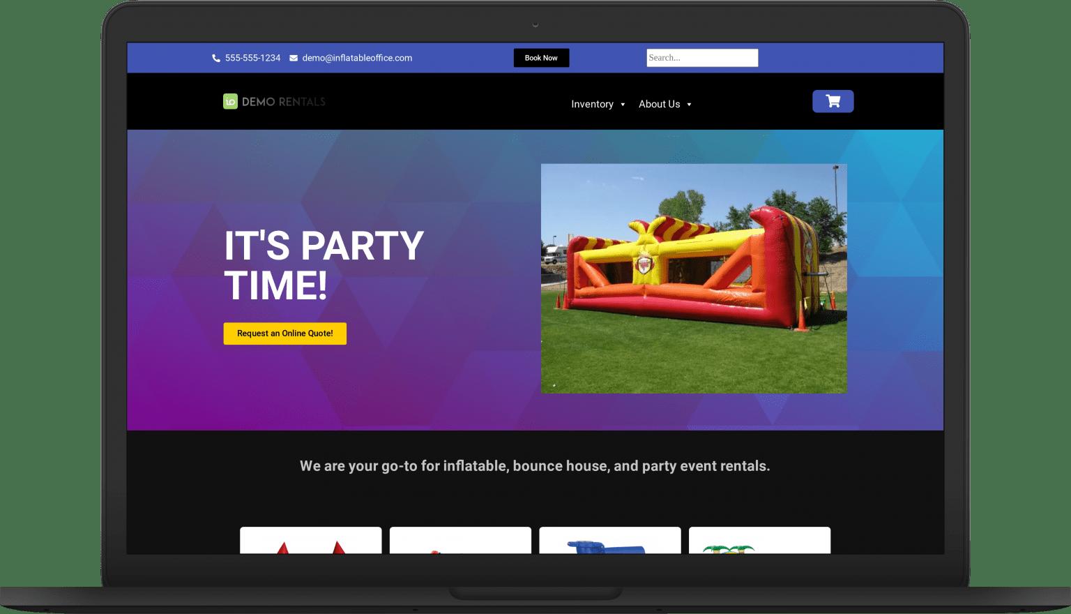 io dark laptop Website Themes