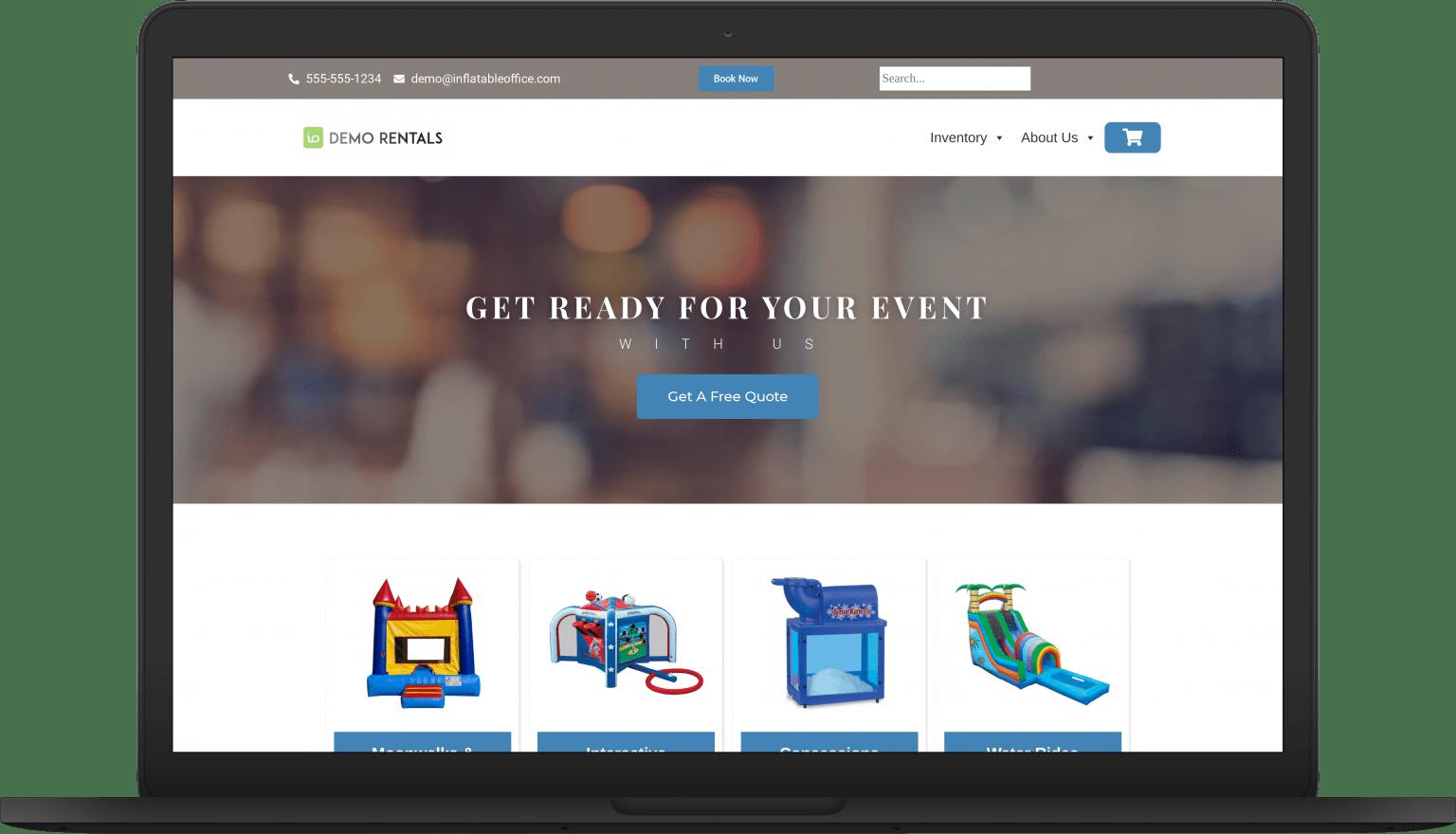 io event laptop Website Themes