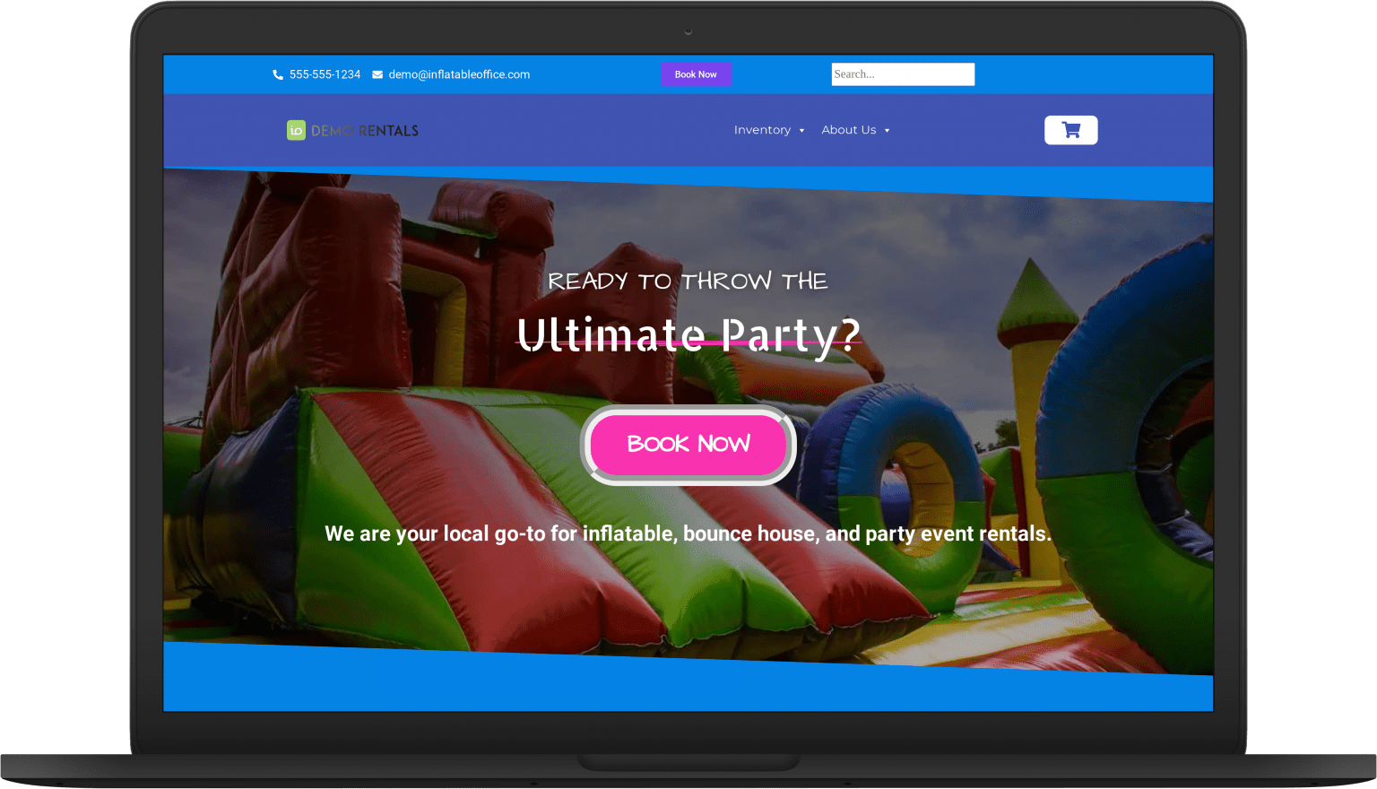 io fun laptop Website Themes