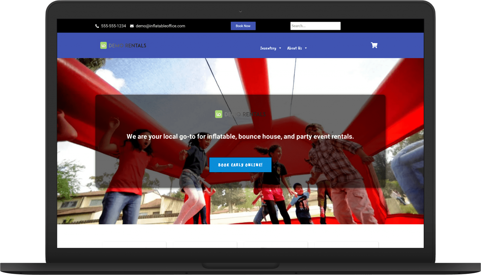 io stellar laptop Website Themes